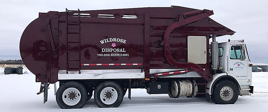 Wildrose Disposal truck in Bonnyville